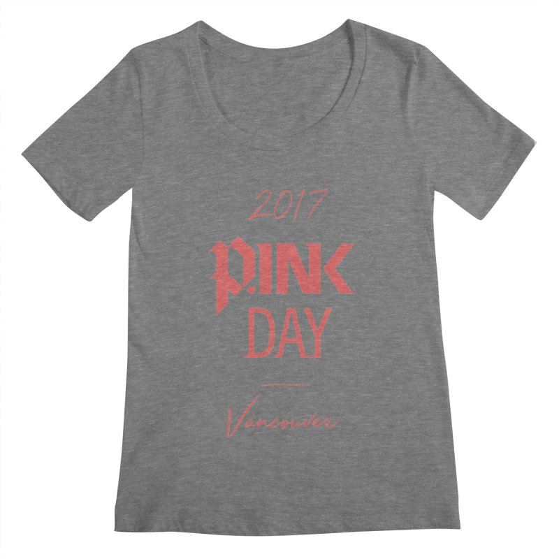 2017 P.ink Day Vancouver Island Women's Scoopneck by P.INK—don't let breast cancer leave the last mark