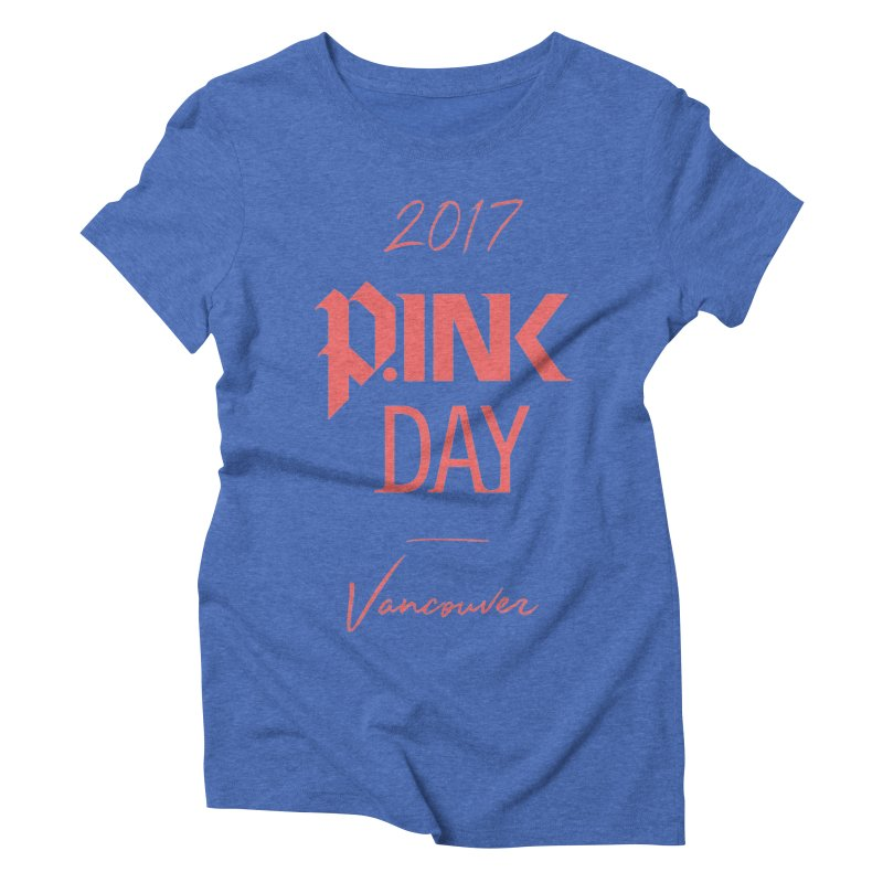 2017 P.ink Day Vancouver Island Women's Triblend T-Shirt by P.INK—don't let breast cancer leave the last mark