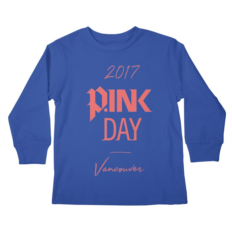 2017 P.ink Day Vancouver Island Kids Longsleeve T-Shirt by P.INK—don't let breast cancer leave the last mark