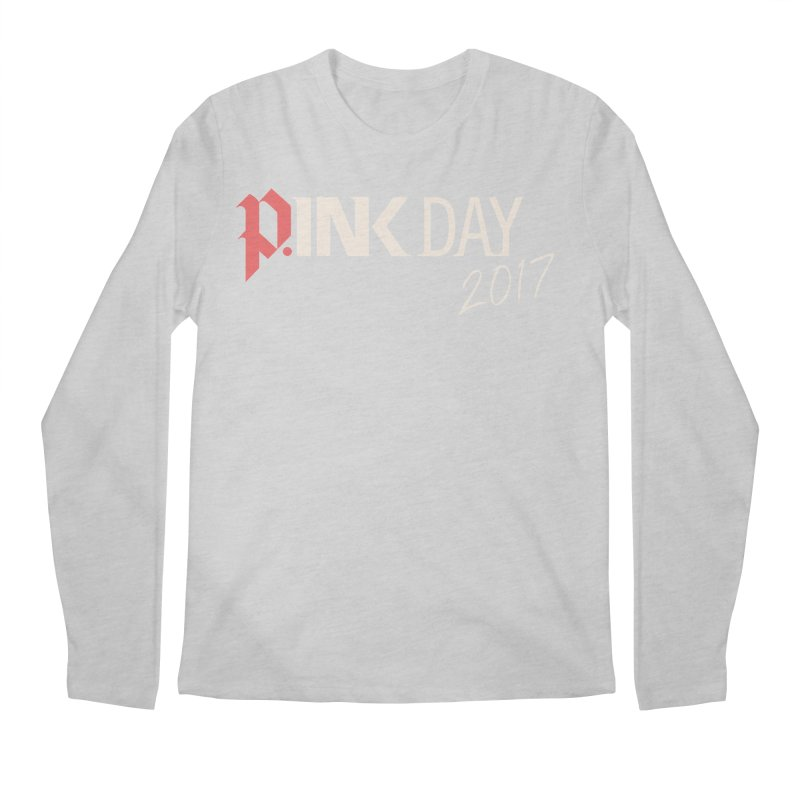 P.ink Day 2017 Logo Gear — Color Mix Men's Longsleeve T-Shirt by P.INK—don't let breast cancer leave the last mark