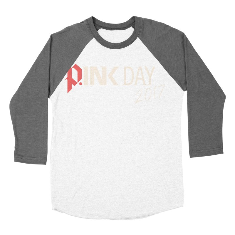 P.ink Day 2017 Logo Gear — Color Mix Men's Baseball Triblend Longsleeve T-Shirt by P.INK—don't let breast cancer leave the last mark