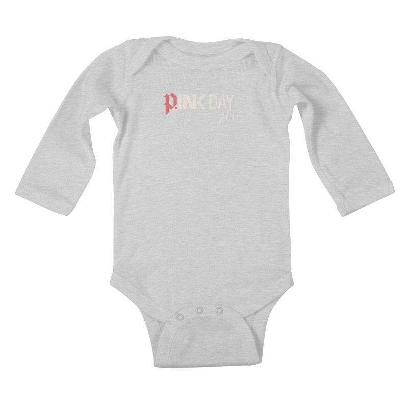 P.ink Day 2017 Logo Gear — Color Mix Kids Baby Longsleeve Bodysuit by P.INK—don't let breast cancer leave the last mark