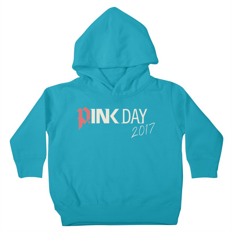 P.ink Day 2017 Logo Gear — Color Mix Kids Toddler Pullover Hoody by P.INK—don't let breast cancer leave the last mark