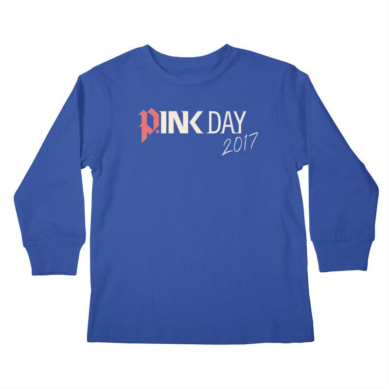 P.ink Day 2017 Logo Gear — Color Mix Kids Longsleeve T-Shirt by P.INK—don't let breast cancer leave the last mark