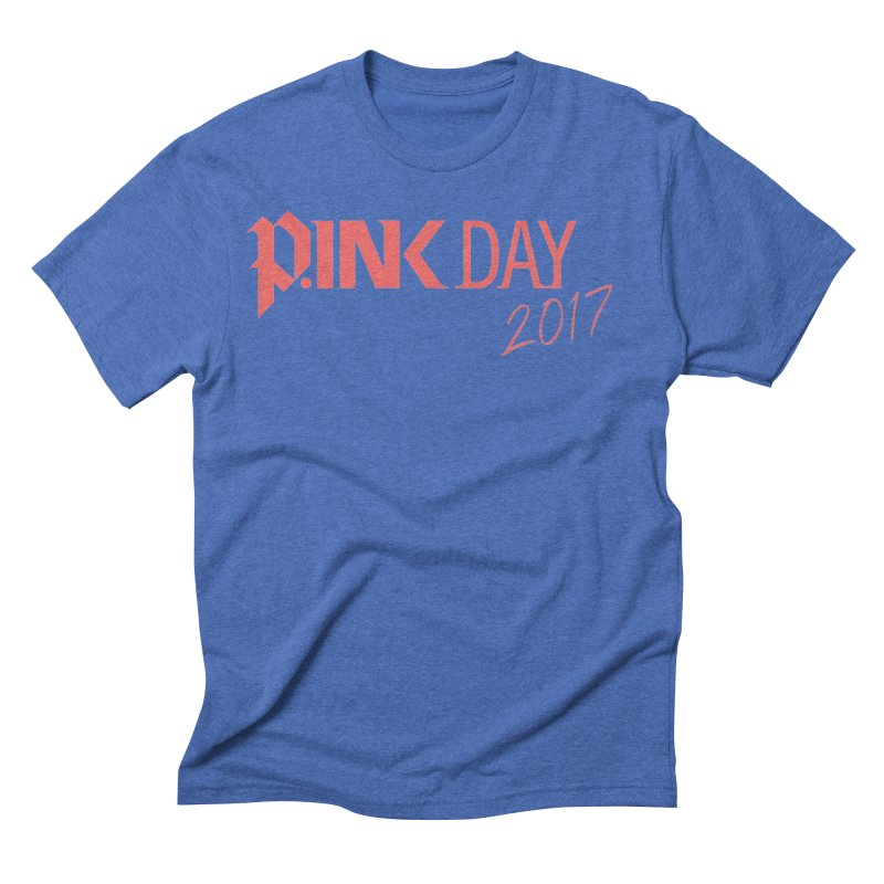 P.ink Day 2017 Logo Gear — Classic Mix Men's Triblend T-shirt by P.INK—don't let breast cancer leave the last mark