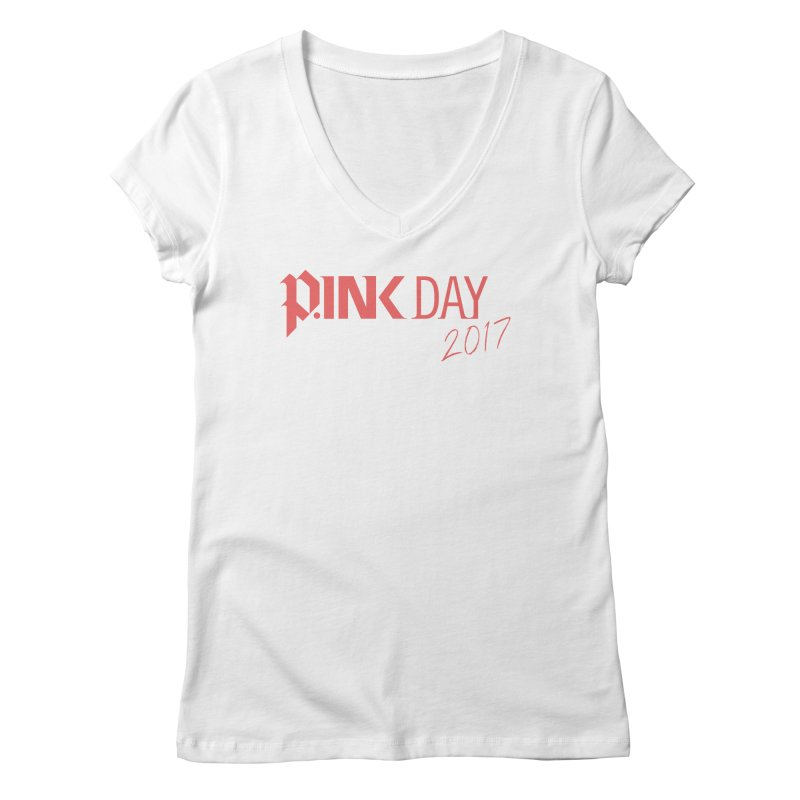 P.ink Day 2017 Logo Gear — Classic Mix Women's V-Neck by P.INK—don't let breast cancer leave the last mark