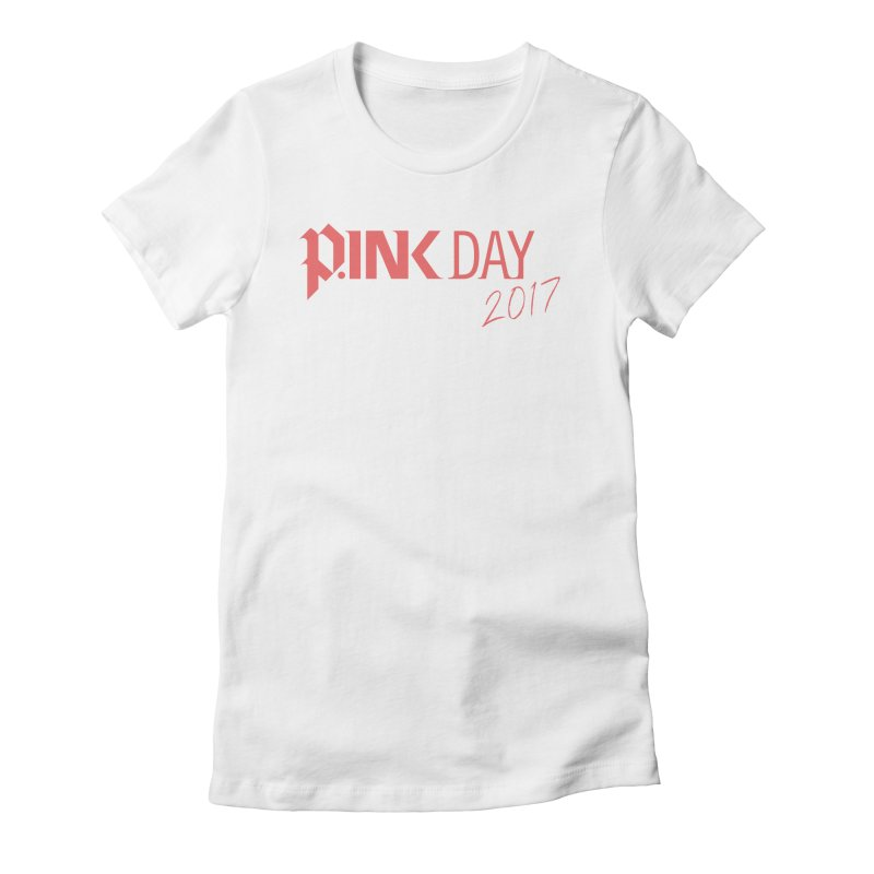 P.ink Day 2017 Logo Gear — Classic Mix Women's Fitted T-Shirt by P.INK—don't let breast cancer leave the last mark