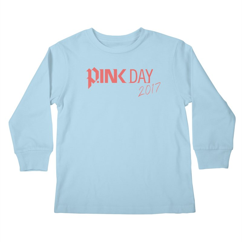 P.ink Day 2017 Logo Gear — Classic Mix Kids Longsleeve T-Shirt by P.INK—don't let breast cancer leave the last mark