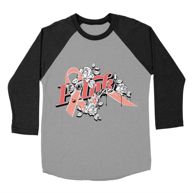 2017 P.ink Limited Edition Women's Baseball Triblend Longsleeve T-Shirt by P.INK—don't let breast cancer leave the last mark
