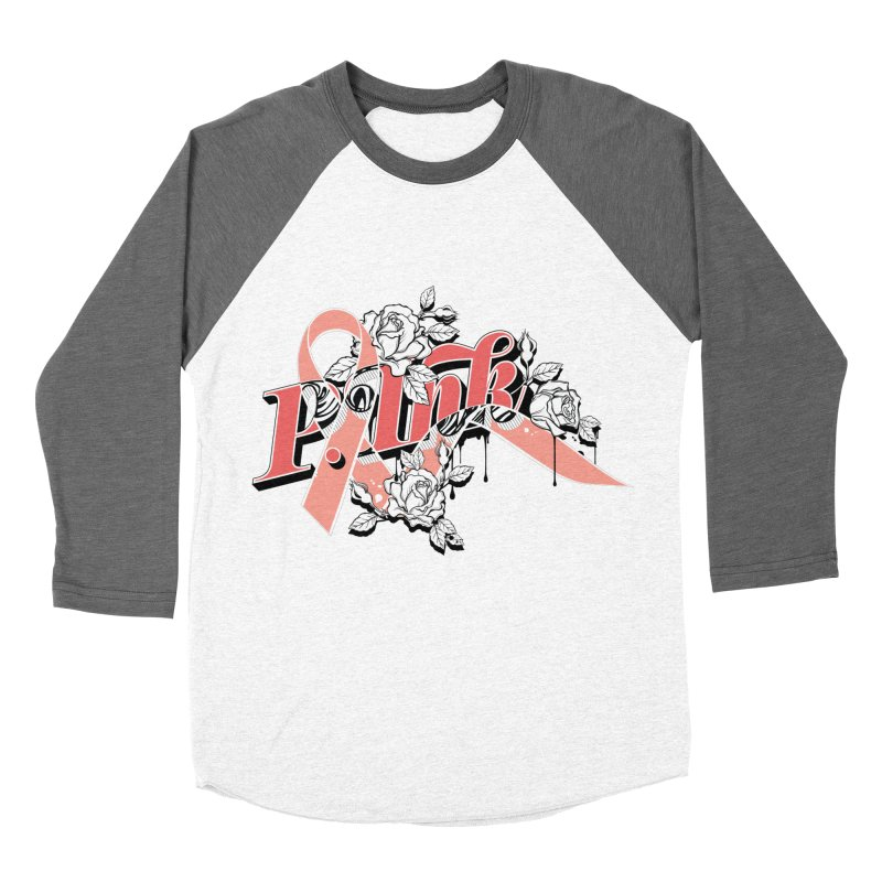2017 P.ink Limited Edition Men's Baseball Triblend T-Shirt by P.INK—don't let breast cancer leave the last mark