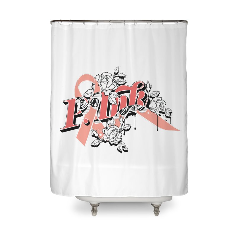 2017 P.ink Limited Edition Home Shower Curtain by P.INK—don't let breast cancer leave the last mark