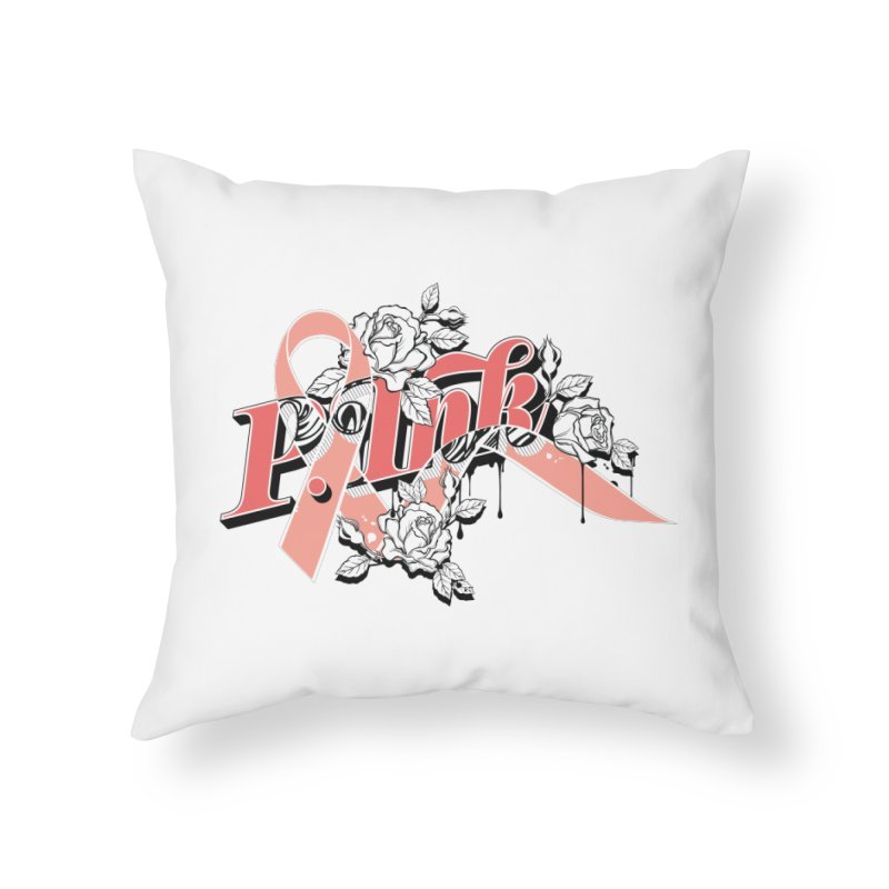 2017 P.ink Limited Edition Home Throw Pillow by P.INK—don't let breast cancer leave the last mark