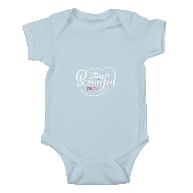 P.ink Day - I am Beautiful - Permanent Collection Kids Baby Bodysuit by P.INK—don't let breast cancer leave the last mark