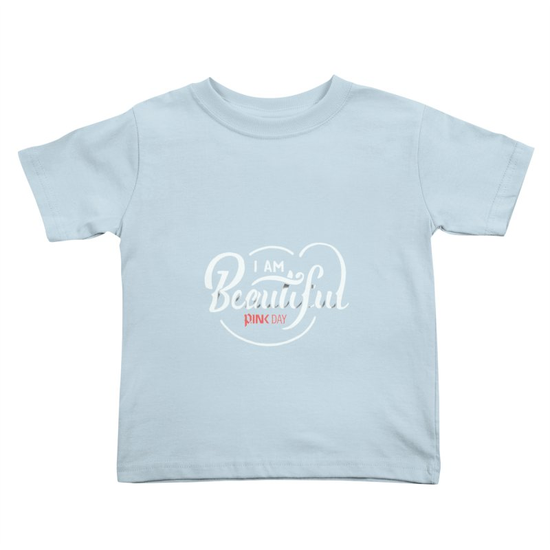 P.ink Day - I am Beautiful - Permanent Collection Kids Toddler T-Shirt by P.INK—don't let breast cancer leave the last mark