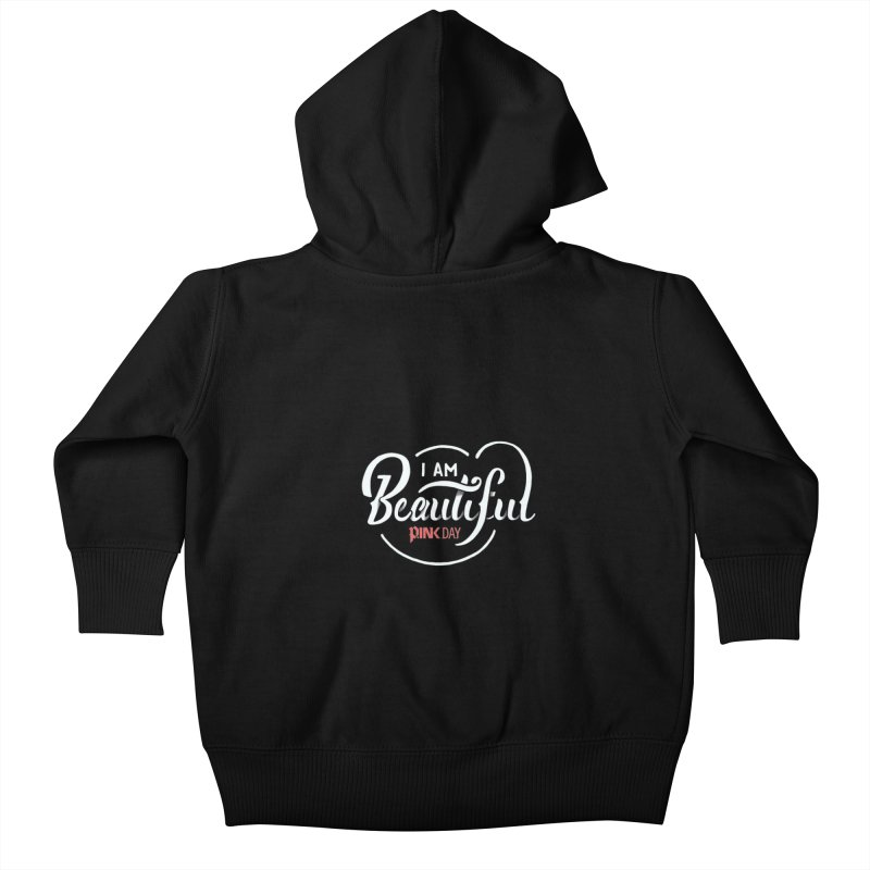 P.ink Day - I am Beautiful - Permanent Collection Kids Baby Zip-Up Hoody by P.INK—don't let breast cancer leave the last mark