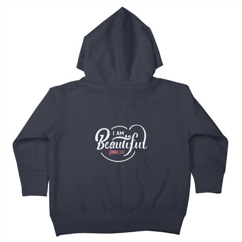 P.ink Day - I am Beautiful - Permanent Collection Kids Toddler Zip-Up Hoody by P.INK—don't let breast cancer leave the last mark