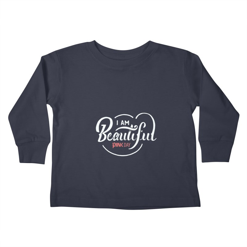 P.ink Day - I am Beautiful - Permanent Collection Kids Toddler Longsleeve T-Shirt by P.INK—don't let breast cancer leave the last mark