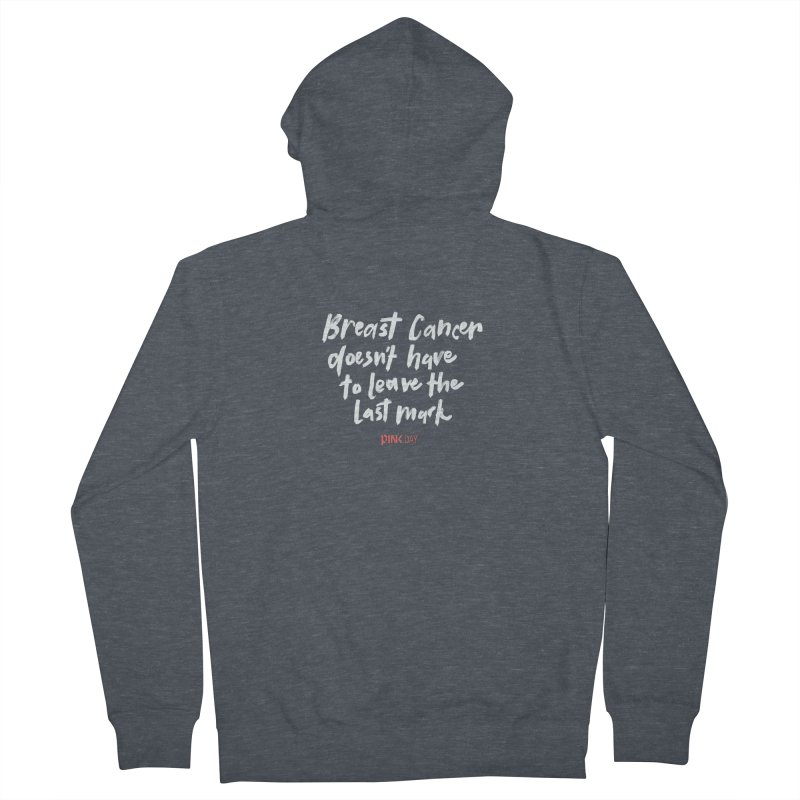 P.ink Day - Breast Cancer Doesn't Have to Leave the Last Mark - White - Permanent Collection Men's Zip-Up Hoody by P.INK—don't let breast cancer leave the last mark