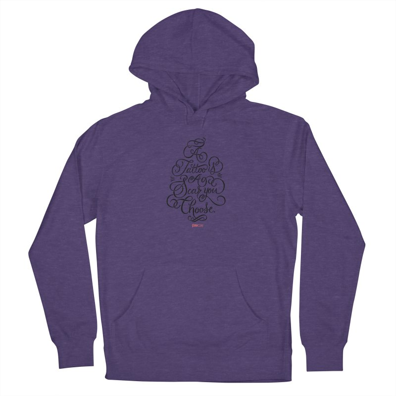 P.ink Day - A Tattoo is a Scar You Choose - Black - Permanent Collection Men's Pullover Hoody by P.INK—don't let breast cancer leave the last mark