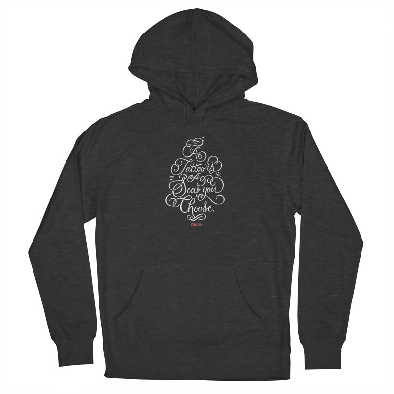 P.ink Day - A Tattoo is a Scar You Choose - White - Permanent Collection Men's Pullover Hoody by P.INK—don't let breast cancer leave the last mark