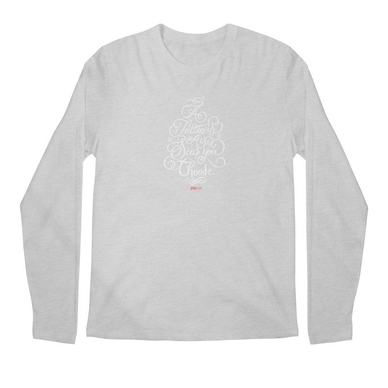 P.ink Day - A Tattoo is a Scar You Choose - White - Permanent Collection Men's Longsleeve T-Shirt by P.INK—don't let breast cancer leave the last mark