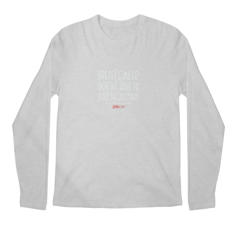 P.ink Day - A Scar You Choose / Alt - Permanent Collection Men's Longsleeve T-Shirt by P.INK—don't let breast cancer leave the last mark