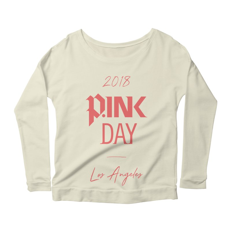 P.Ink 2018 LA Women's Scoop Neck Longsleeve T-Shirt by P.INK—don't let breast cancer leave the last mark
