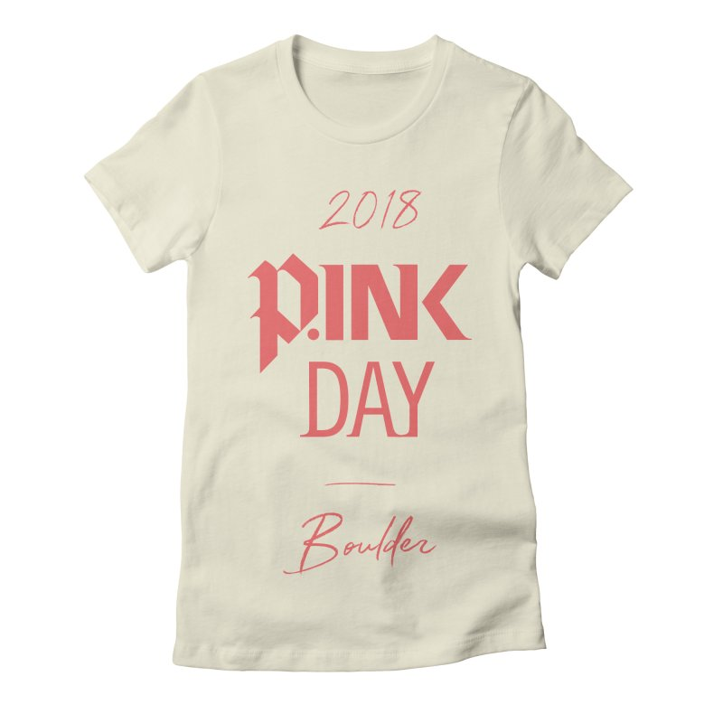P.Ink 2018 Boulder Women's Fitted T-Shirt by P.INK—don't let breast cancer leave the last mark