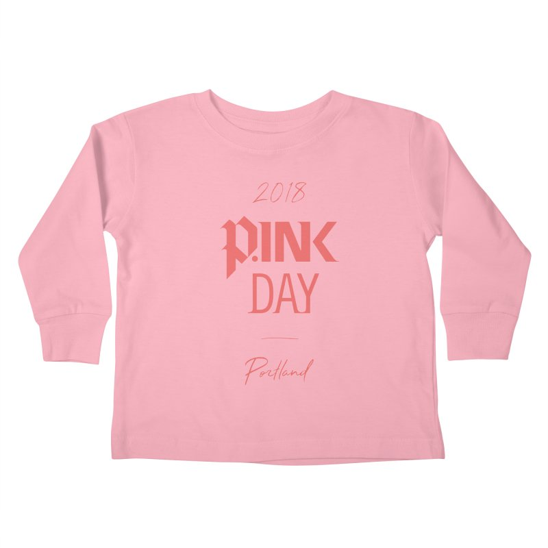 P.Ink 2018 Portland Kids Toddler Longsleeve T-Shirt by P.INK—don't let breast cancer leave the last mark