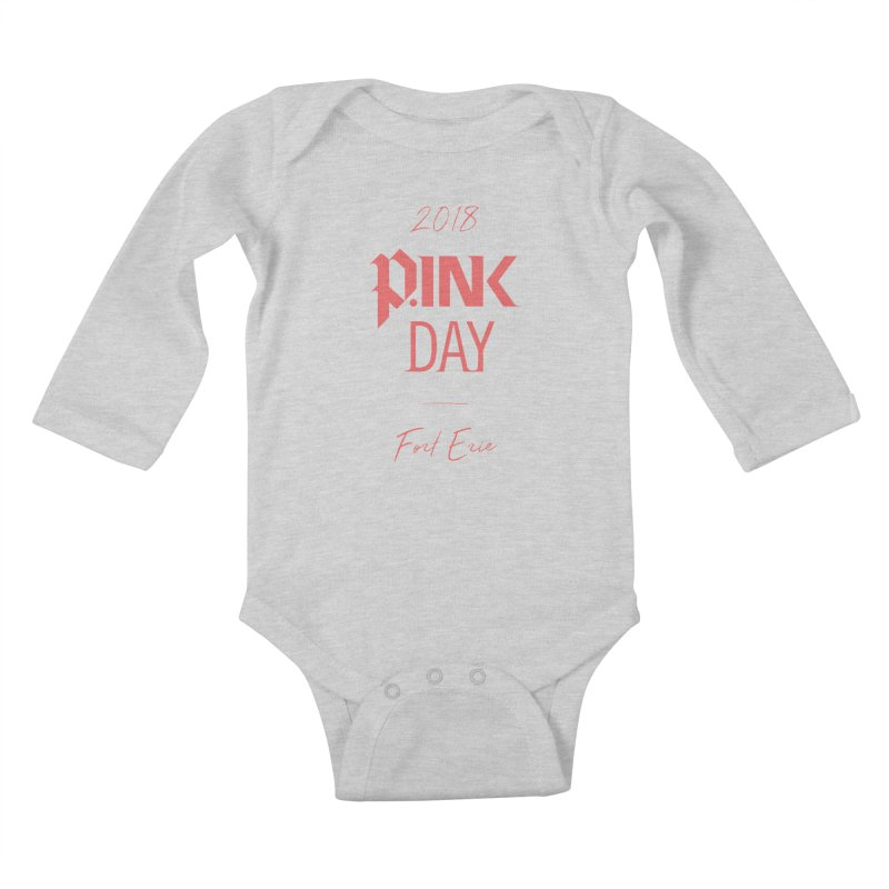 P.Ink 2018 Fort Erie Kids Baby Longsleeve Bodysuit by P.INK—don't let breast cancer leave the last mark