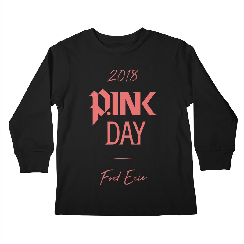 P.Ink 2018 Fort Erie Kids Longsleeve T-Shirt by P.INK—don't let breast cancer leave the last mark