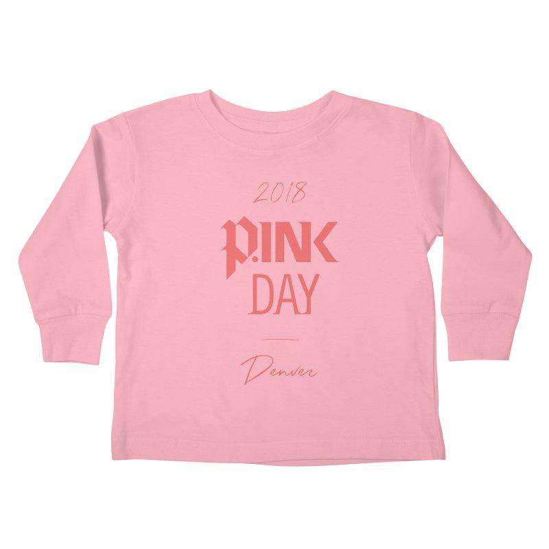 P.Ink 2018 Denver Kids Toddler Longsleeve T-Shirt by P.INK—don't let breast cancer leave the last mark