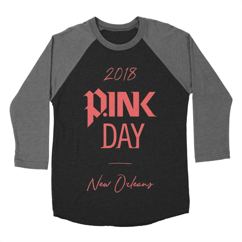 P.Ink 2018 New Orleans Men's Baseball Triblend Longsleeve T-Shirt by P.INK—don't let breast cancer leave the last mark