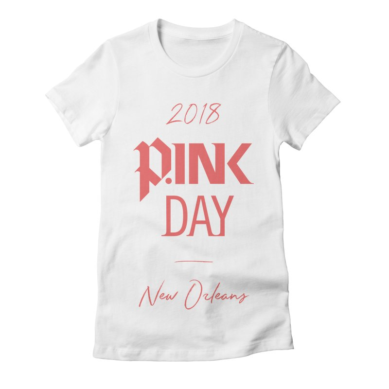 P.Ink 2018 New Orleans Women's Fitted T-Shirt by P.INK—don't let breast cancer leave the last mark