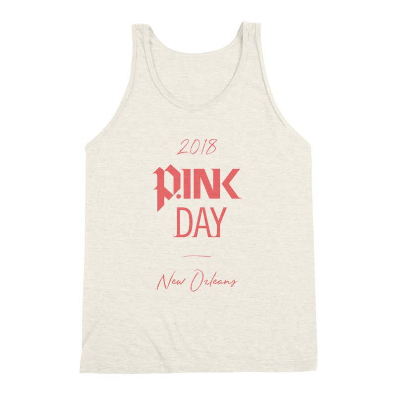 P.Ink 2018 New Orleans Men's Triblend Tank by P.INK—don't let breast cancer leave the last mark