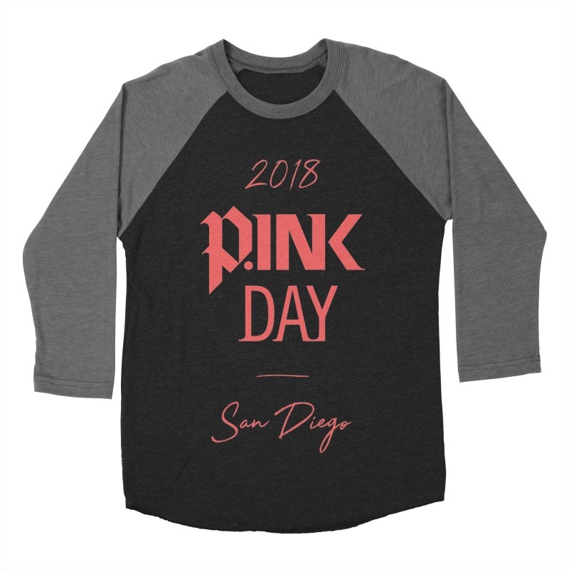 P.Ink 2018 San Diego Men's Baseball Triblend Longsleeve T-Shirt by P.INK—don't let breast cancer leave the last mark