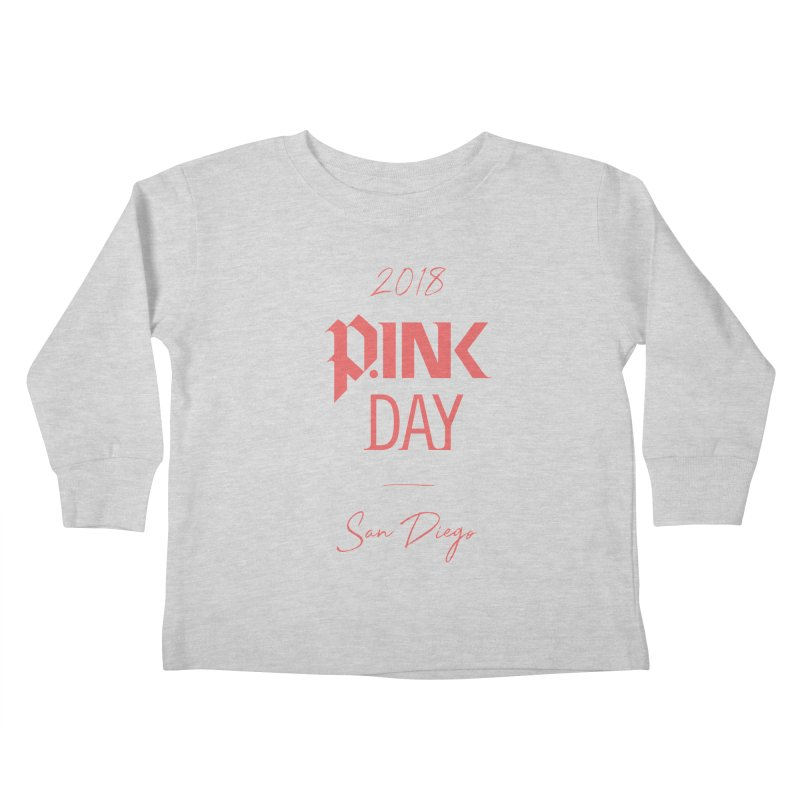 P.Ink 2018 San Diego Kids Toddler Longsleeve T-Shirt by P.INK—don't let breast cancer leave the last mark