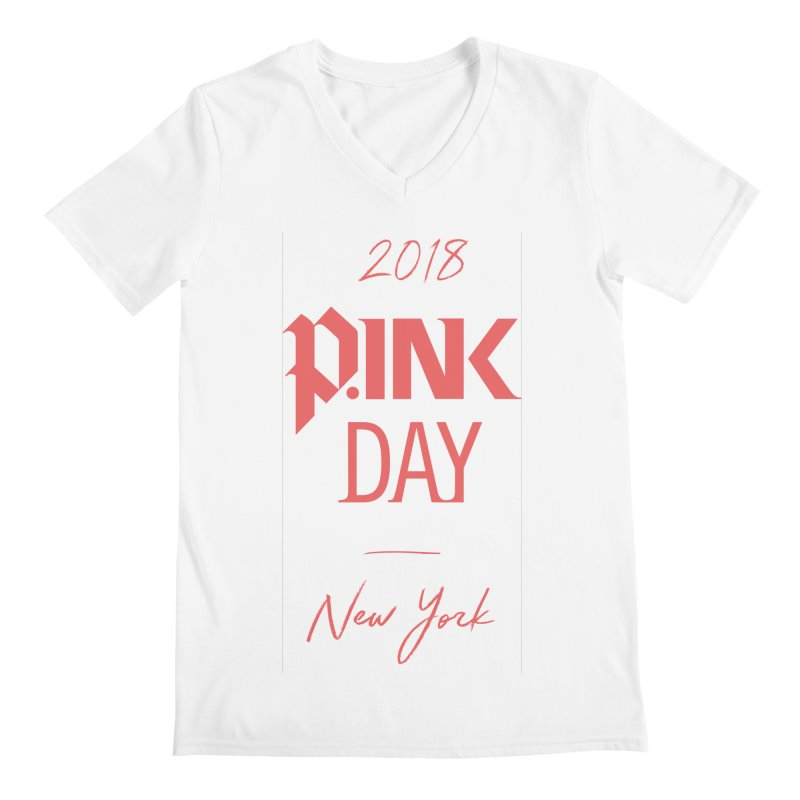 2018 P.Ink New York Men's Regular V-Neck by P.INK—don't let breast cancer leave the last mark