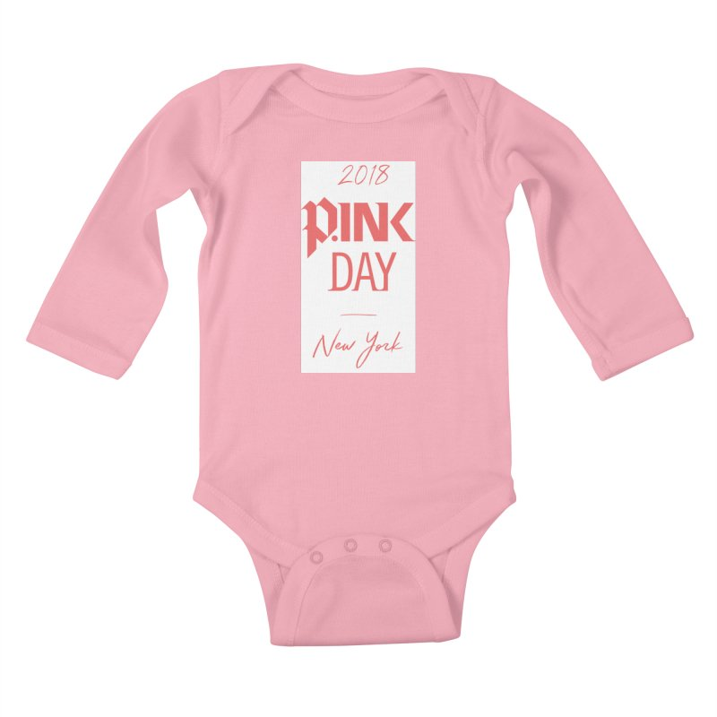 2018 P.Ink New York Kids Baby Longsleeve Bodysuit by P.INK—don't let breast cancer leave the last mark