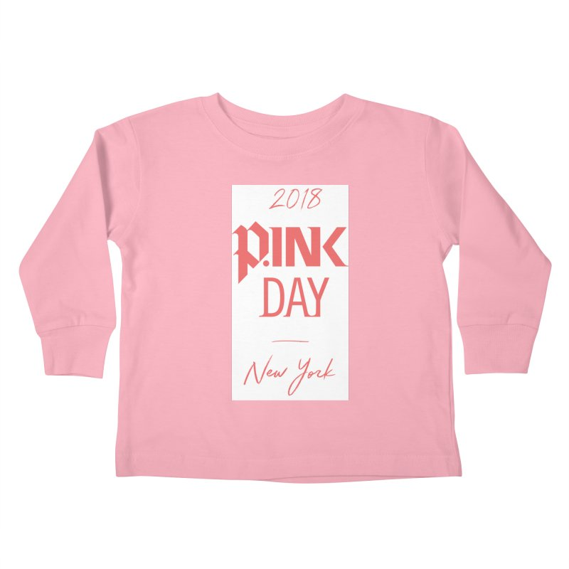 2018 P.Ink New York Kids Toddler Longsleeve T-Shirt by P.INK—don't let breast cancer leave the last mark