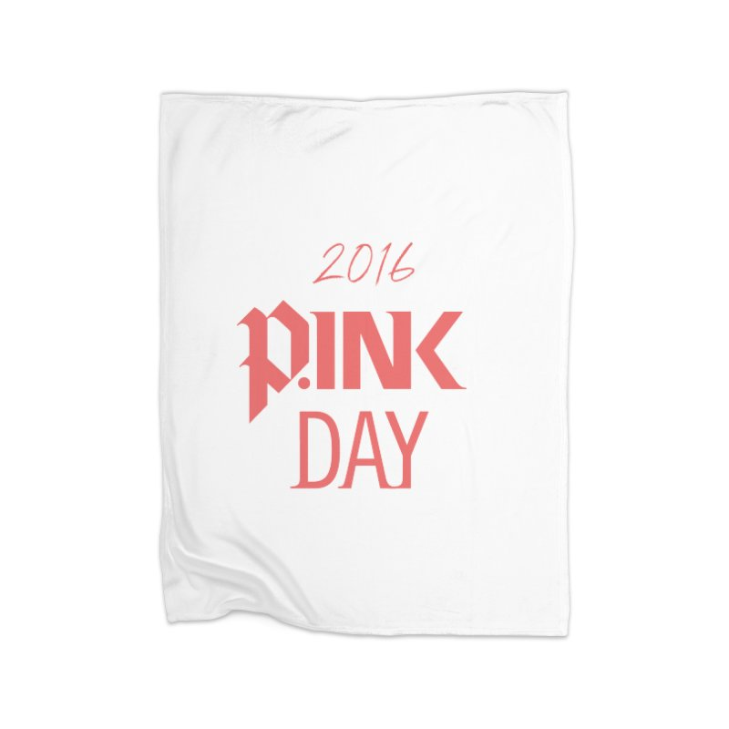 P.ink Day 2016 Red Logo Wear Home Fleece Blanket Blanket by P.INK—don't let breast cancer leave the last mark