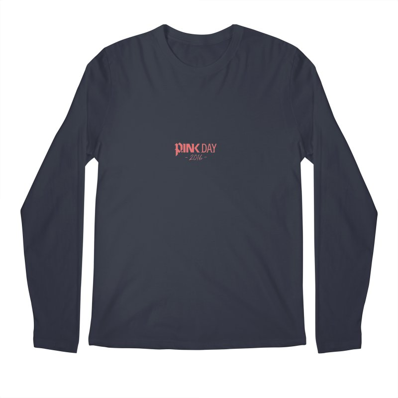 P.ink Day 2016 Red / Alt Logo Wear Men's Longsleeve T-Shirt by P.INK—don't let breast cancer leave the last mark