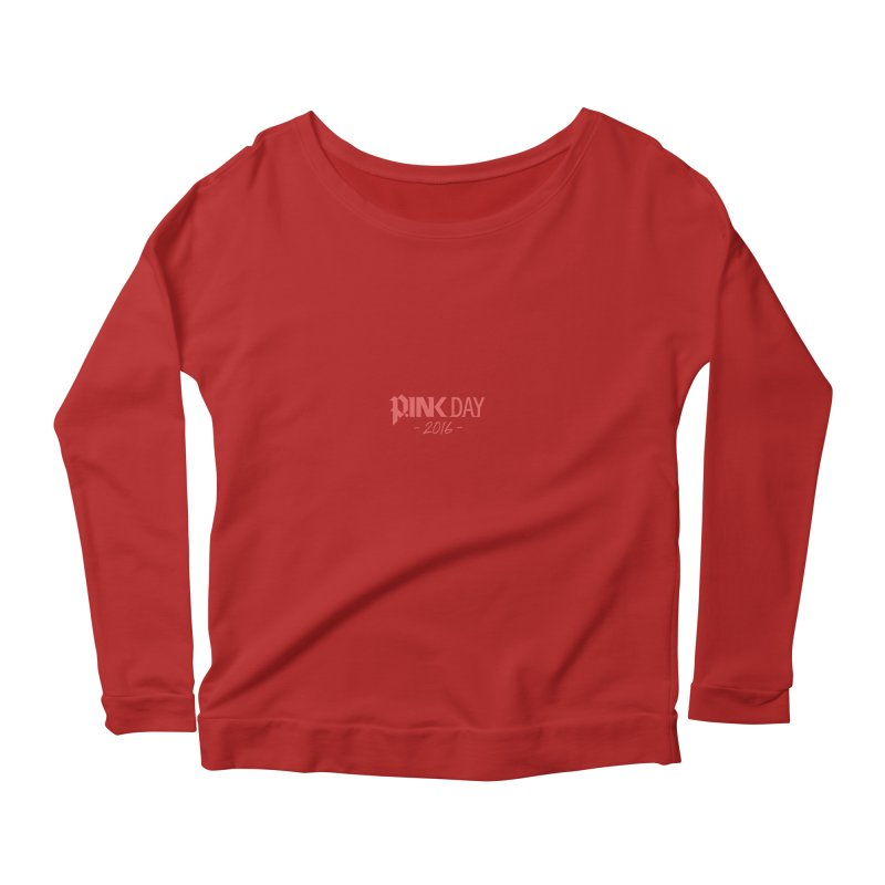 P.ink Day 2016 Red / Alt Logo Wear Women's Longsleeve Scoopneck  by P.INK—don't let breast cancer leave the last mark