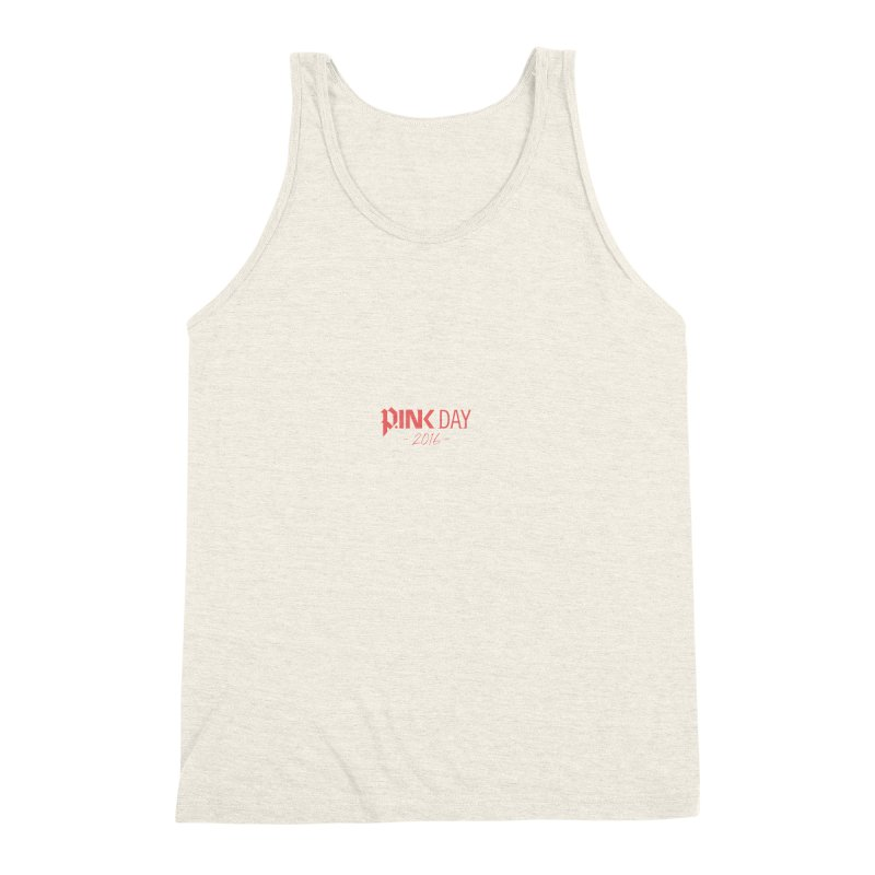 P.ink Day 2016 Red / Alt Logo Wear Men's Triblend Tank by P.INK—don't let breast cancer leave the last mark