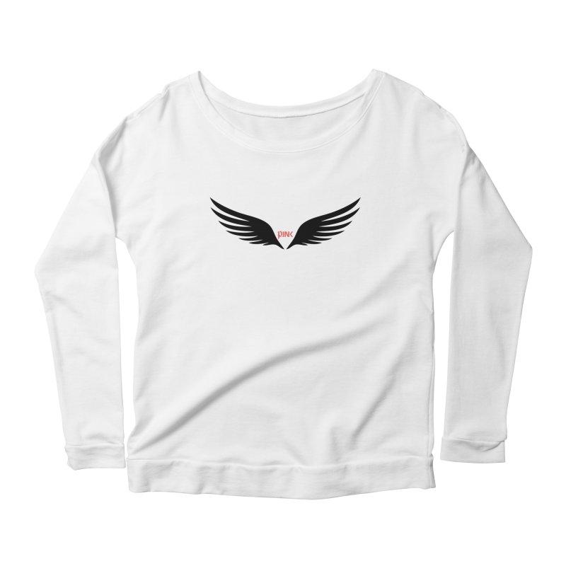 P.ink Healing Wings Wear Women's Longsleeve Scoopneck  by P.INK—don't let breast cancer leave the last mark