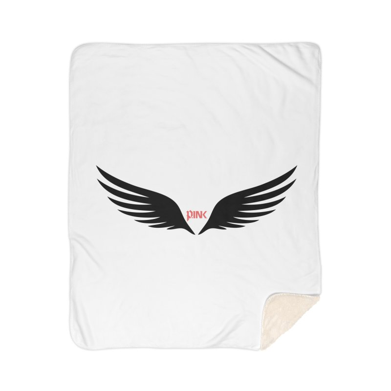 P.ink Healing Wings Wear Home Sherpa Blanket Blanket by P.INK—don't let breast cancer leave the last mark