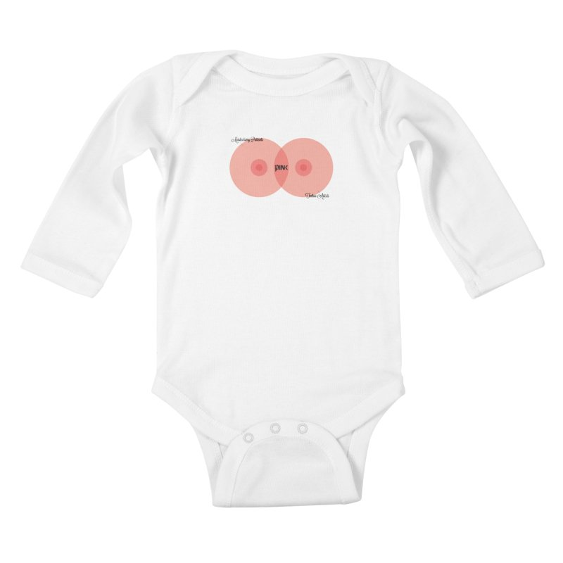 P.ink Mission Venn Wear Kids Baby Longsleeve Bodysuit by P.INK—don't let breast cancer leave the last mark