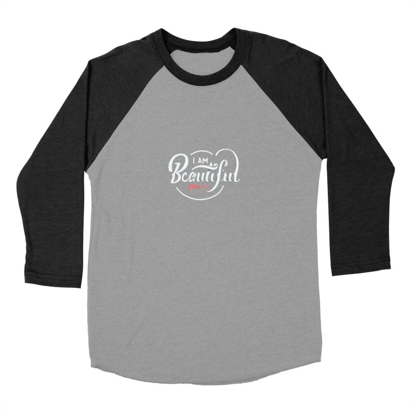 P.ink Day 2016 I Am Beautiful / White Wear Men's Baseball Triblend T-Shirt by P.INK—don't let breast cancer leave the last mark