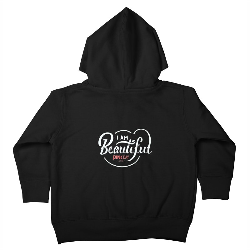P.ink Day 2016 I Am Beautiful / White Wear Kids Toddler Zip-Up Hoody by P.INK—don't let breast cancer leave the last mark