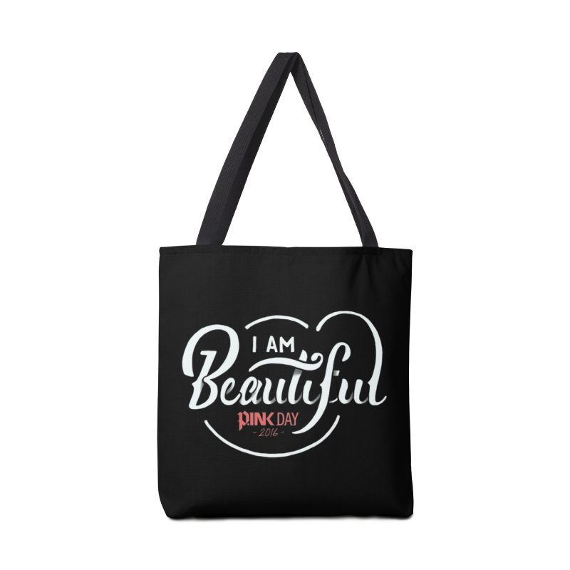 P.ink Day 2016 I Am Beautiful / White Wear Accessories Bag by P.INK—don't let breast cancer leave the last mark